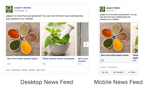 Facebook Carousel Ads Example