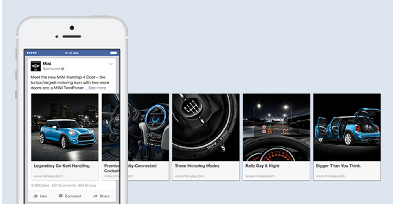 MINI Facebook lead ad carousel